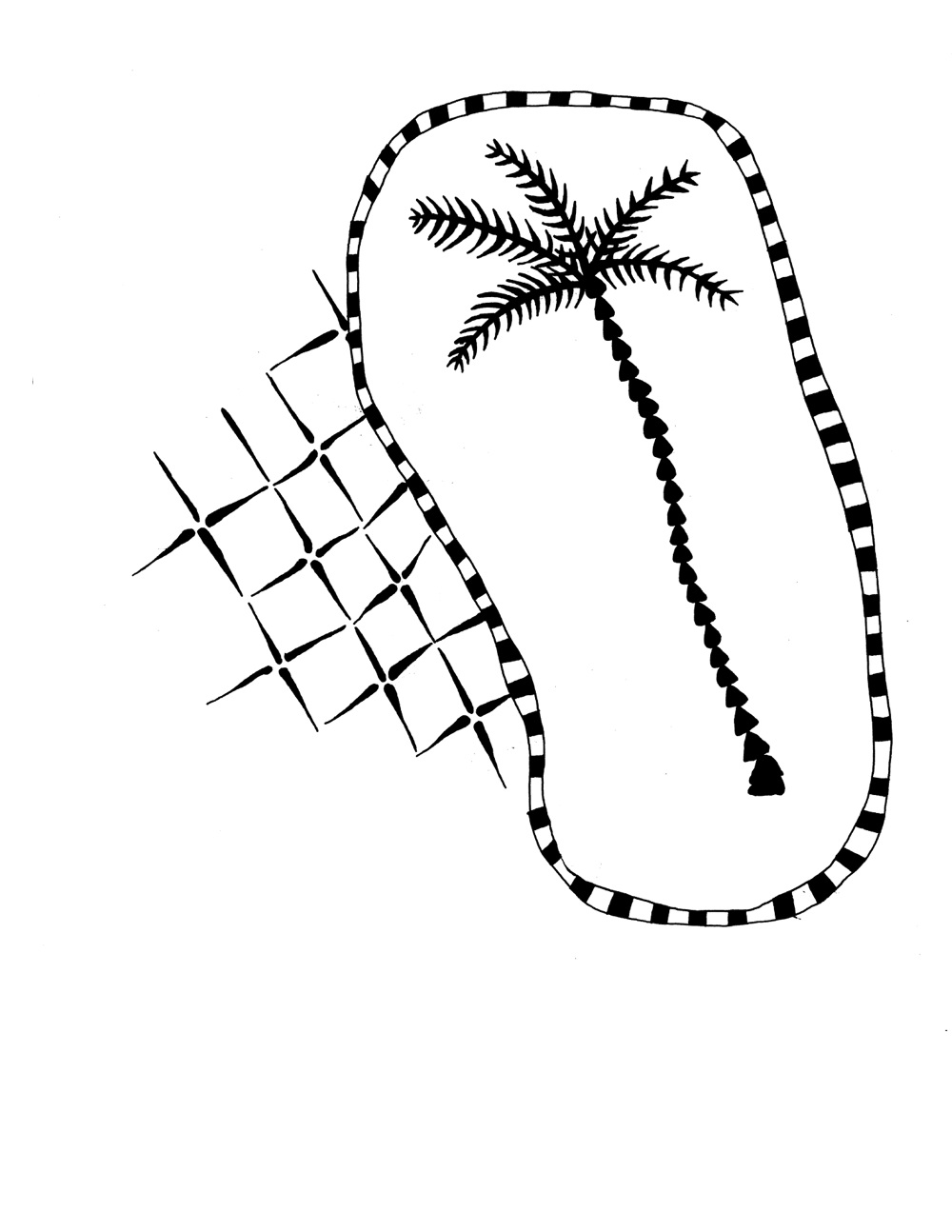 a single line drawing of the thrasher logo